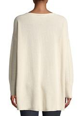 Lafayette 148 Drop-Shoulder Novelty Sequin  Pullover Sweater