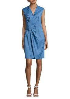 Lafayette 148 Elsa Sleeveless Pleated Dress