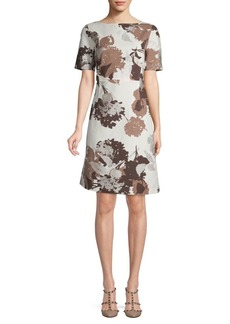 Lafayette 148 Emanuelle Floral Shift Dress