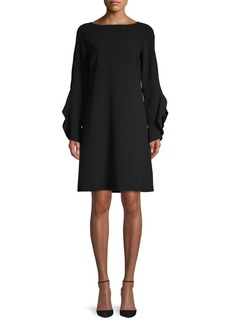 Lafayette 148 Emory Ruffle-Sleeve Shift Dress