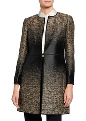 Lafayette 148 Erin Equinox Long-Sleeve Jacquard Coat