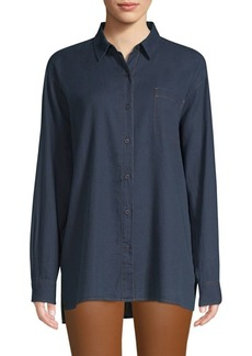 Lafayette 148 Everson Chambray Top