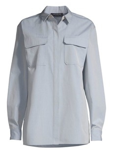 Lafayette 148 Everson Embellished Collar Woven Shirt