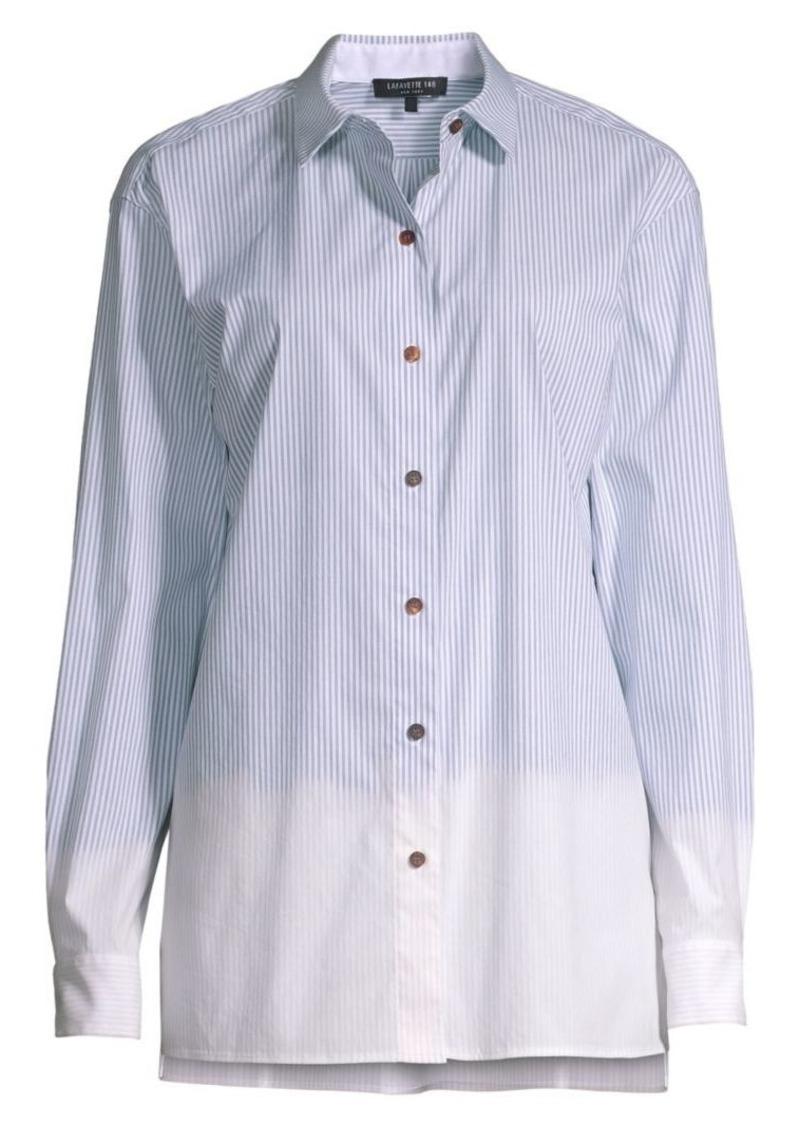 Lafayette 148 Everson Melange Striped Shirt
