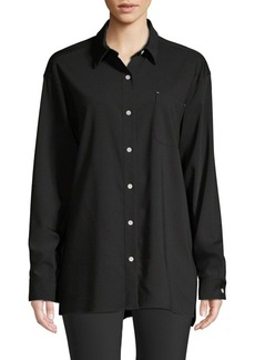 Lafayette 148 Everson Stretch Wool Shirt