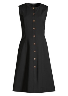 Lafayette 148 Fahey Sleeveless Button-Front Dress