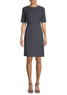 Lafayette 148 Faryn Short-Sleeve Dress