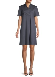 Lafayette 148 Faux Wrap Shift Dress