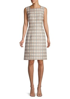 Lafayette 148 Filmore Plaid Jojo Sheath Dress