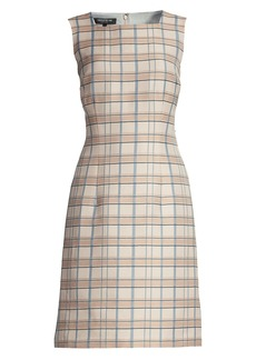 Lafayette 148 Filmore Plaid Jojo Sheath Dress
