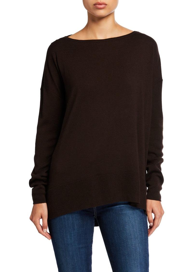 Lafayette 148 Fine-Gauge Merino Wool Bateau-Neck Sweater
