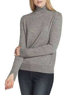 Lafayette 148 Fine-Gauge Merino Wool Split-Collar Sweater
