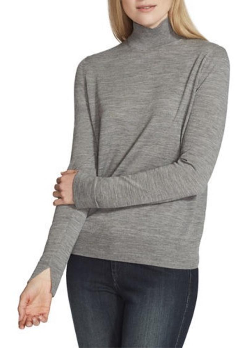 Lafayette 148 Fine-Gauge Merino Wool Split-Collar Sweater