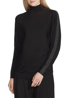 Lafayette 148 Fine-Gauge Merino Wool Turtleneck Dolman Sweater with Metallic Detail