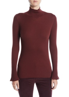 Lafayette 148 Fine-Gauge Wool Turtleneck Sweater