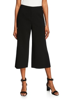 Lafayette 148 Finesse Crepe Cropped Pants  Black
