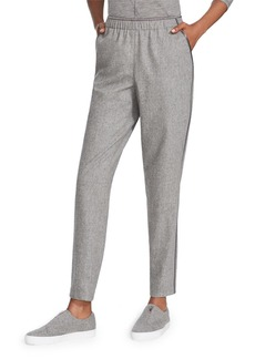 Lafayette 148 Finite Italian Flannel Track Pants with Piping