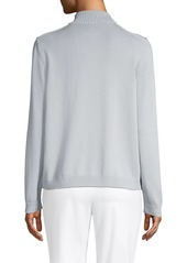 Lafayette 148 Fitted Knit Bomber Jacket