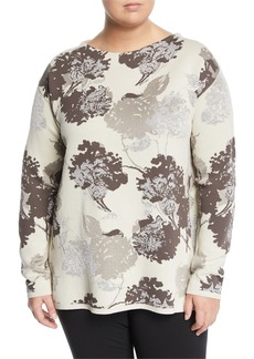 Lafayette 148 Floral Jacquard Sweater