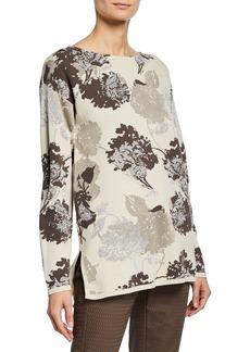 Lafayette 148 Floral Jacquard Sweater