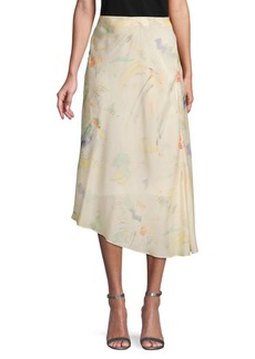 Lafayette 148 Floral Silk Skirt