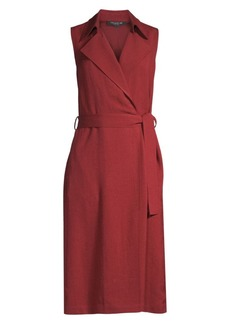 Lafayette 148 Florance Sleeveless Wrap Shirtdress