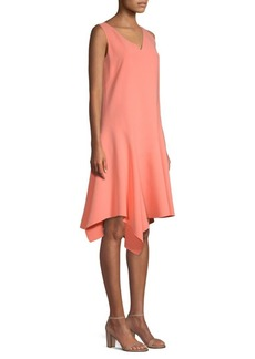 Lafayette 148 Floretta Sleeveless Flounce Dress