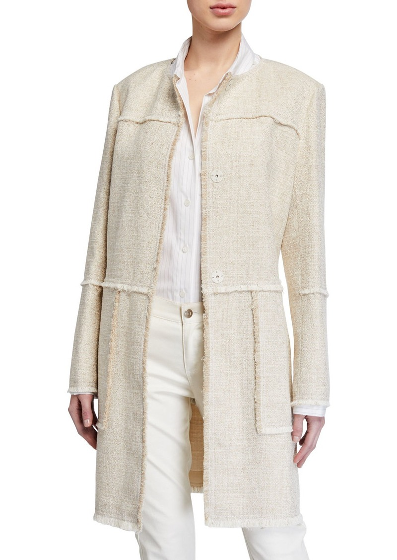 Lafayette 148 Francine Relaxed Tweed Topper