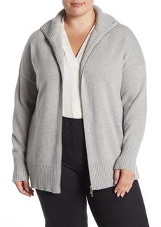 Lafayette 148 Front Zip Wool Blend Sweater (Plus Size)