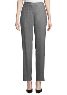 Lafayette 148 Fulton High-Waist Straight-Leg Italian Flannel Pants