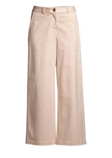 Lafayette 148 Fulton Micro Stripe Cropped Wide-leg Pants