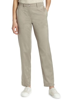 Lafayette 148 Fulton Straight-Leg Satin Cloth Pants