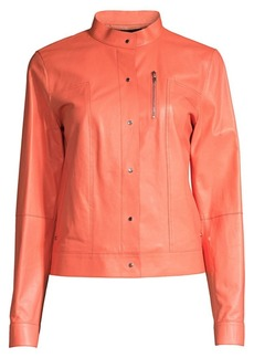 Lafayette 148 Galicia Leather Jacket