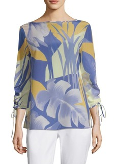 Georgina Floral Silk Blouse