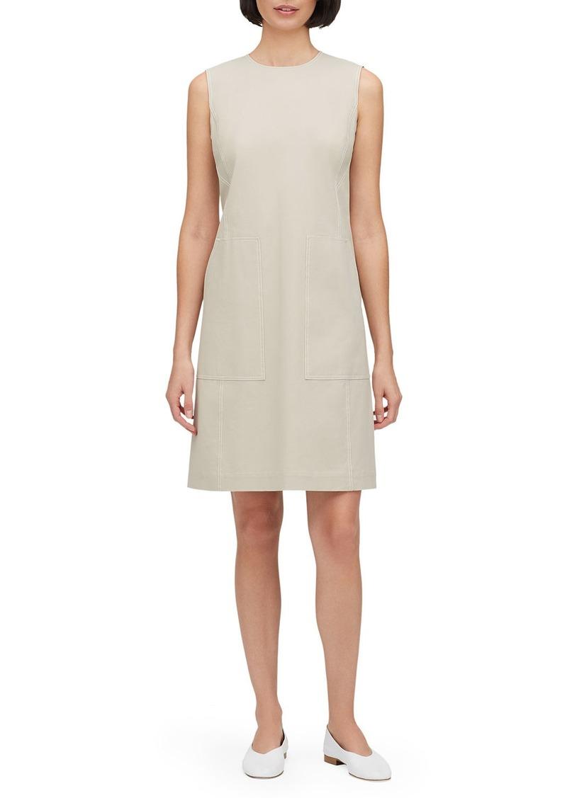 Lafayette 148 Giovanetta Sleeveless Fundamental Bi-Stretch Shift Dress