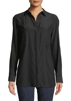 Lafayette 148 Glenn Silk Button-Front Blouse