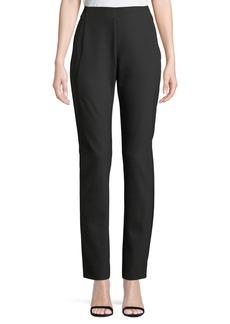 Lafayette 148 Gramercy Straight-Leg High-Rise Pants