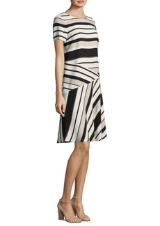 Lafayette 148 Greta Striped Shift Dress