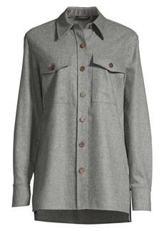 Lafayette 148 Greyson Flannel Shirt