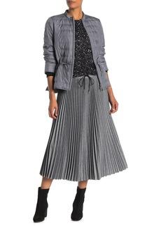 Lafayette 148 Gwenda Drawstring Waist Pleated Midi Skirt