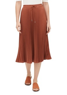 Lafayette 148 Gwenda Kensington Cloth Pleated Skirt w/ Drawstring Waist