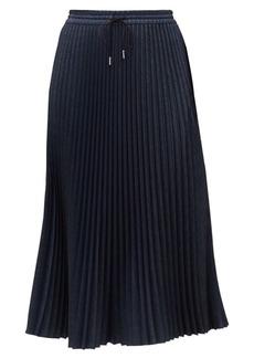 Lafayette 148 Gwenda Micro-Pleat Midi Skirt