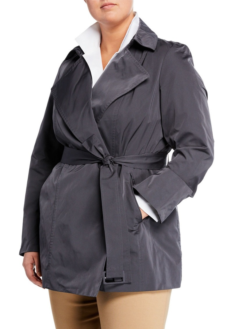 Lafayette 148 Hadley Short Trench Coat  Plus Size