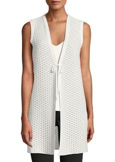 Lafayette 148 Hanneli Tie-Front Honeycomb Vest