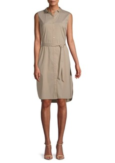 Lafayette 148 Harleen Sleeveless Shirtdress