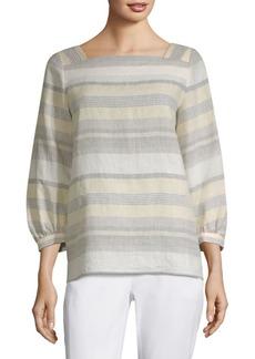 Harper Stripe Linen Blouse