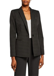 Lafayette 148 Harvey Pattern One-Button Blazer