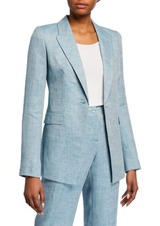 Lafayette 148 Heather Bravado Italian Linen Jacket