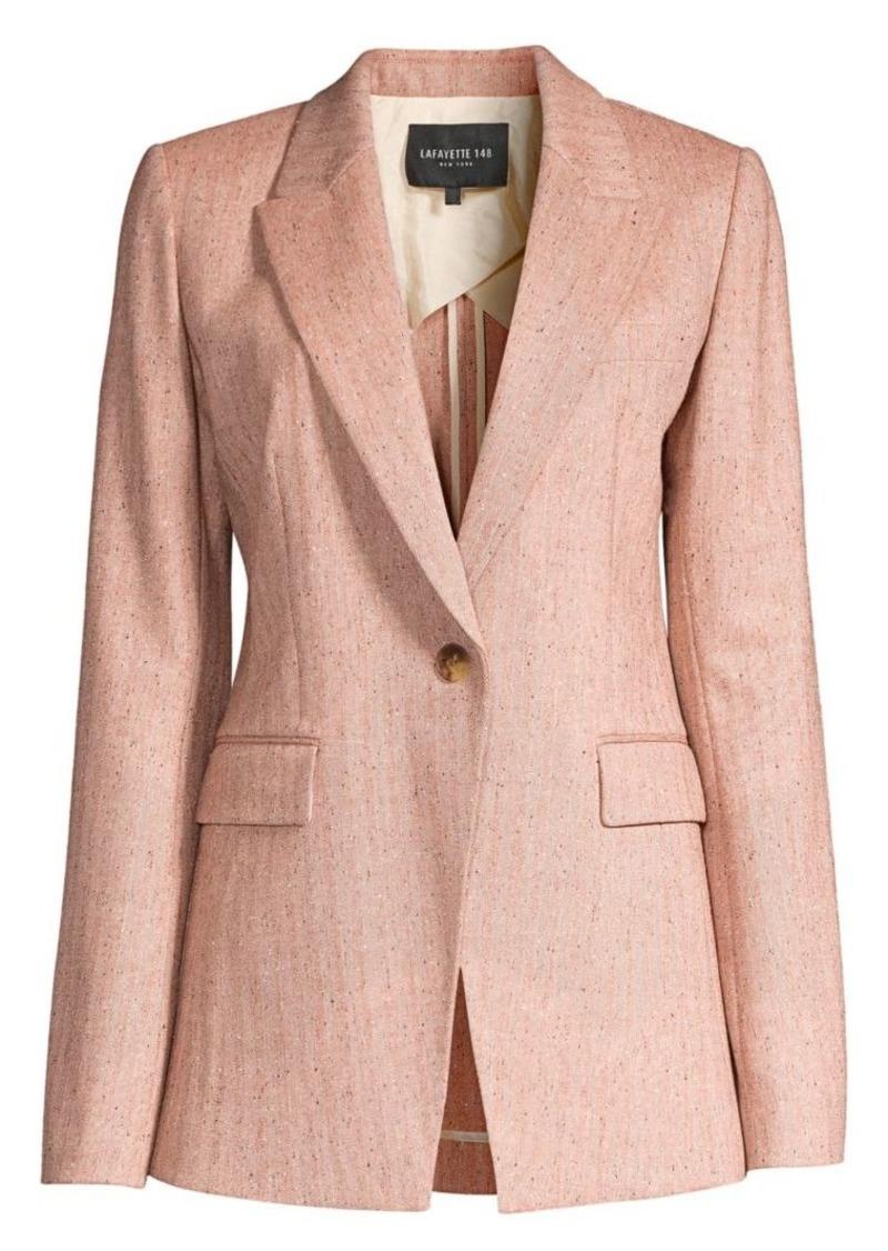 Lafayette 148 Heather Speckled Herringbone Jacket
