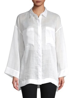 Lafayette 148 Hensley Long-Sleeve Blouse